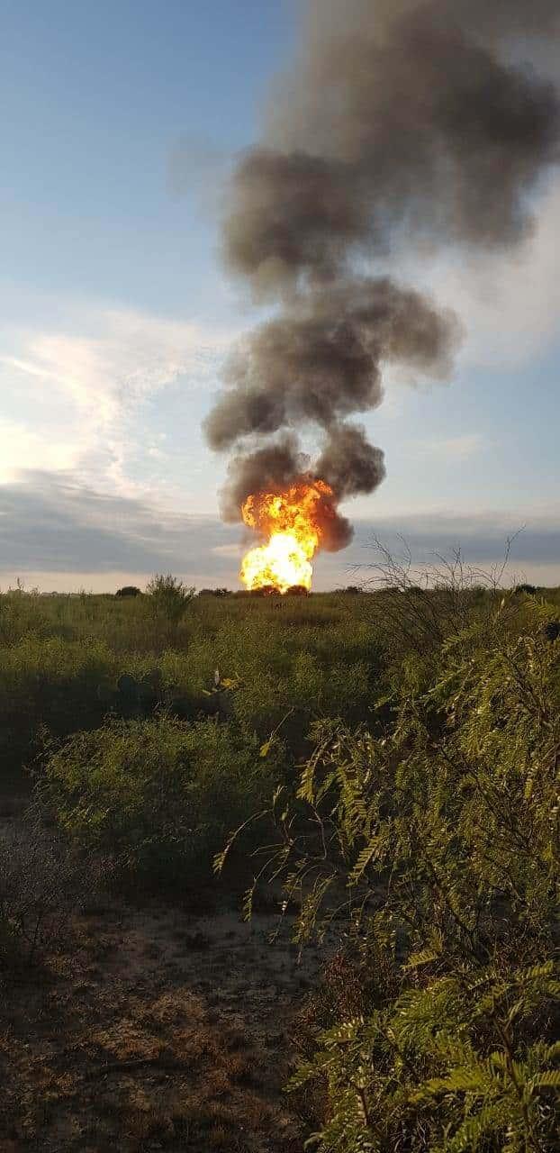 El ducto donde se registró la explosión e incendio es del Cenagas