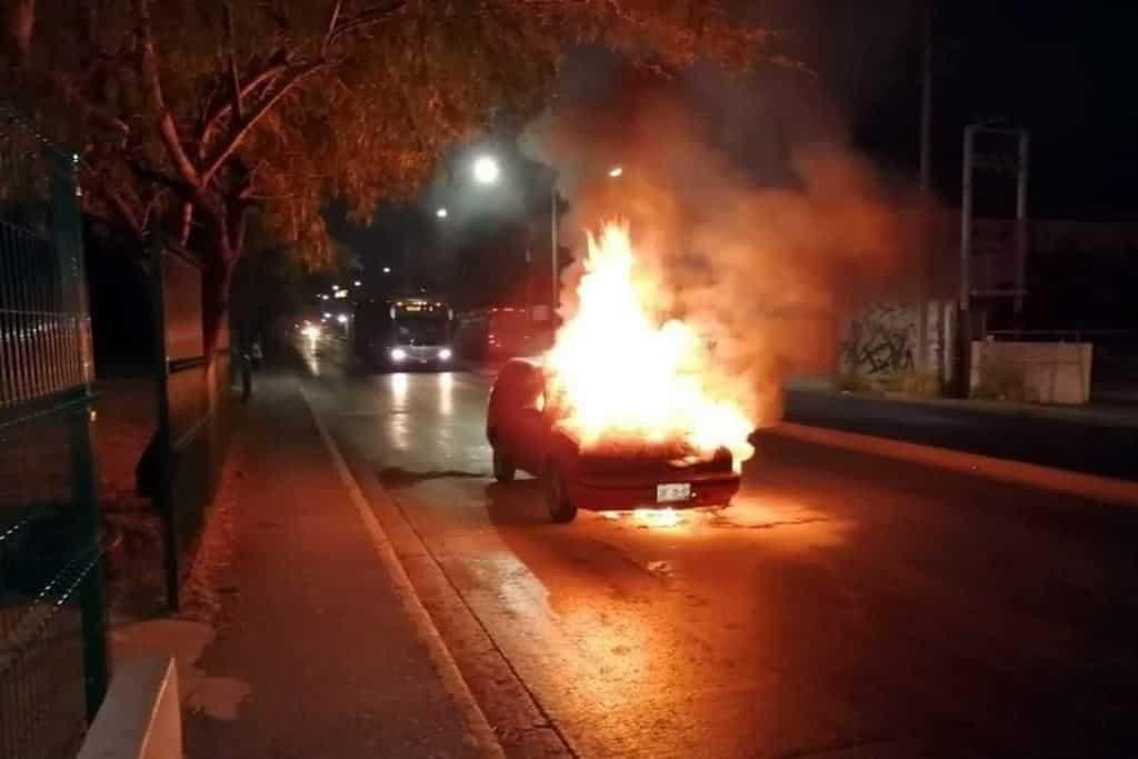 Sufrió una crisis nerviosa, al incendiarse su vehículo y quedar totalmente destruido