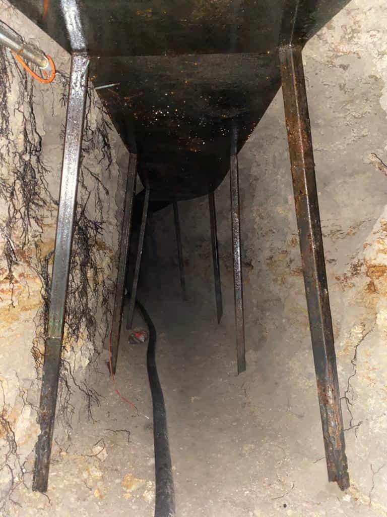 """Descubrieron un """"Huachitunel"""", que pretendía ser utilizado para el robo de combustible"""