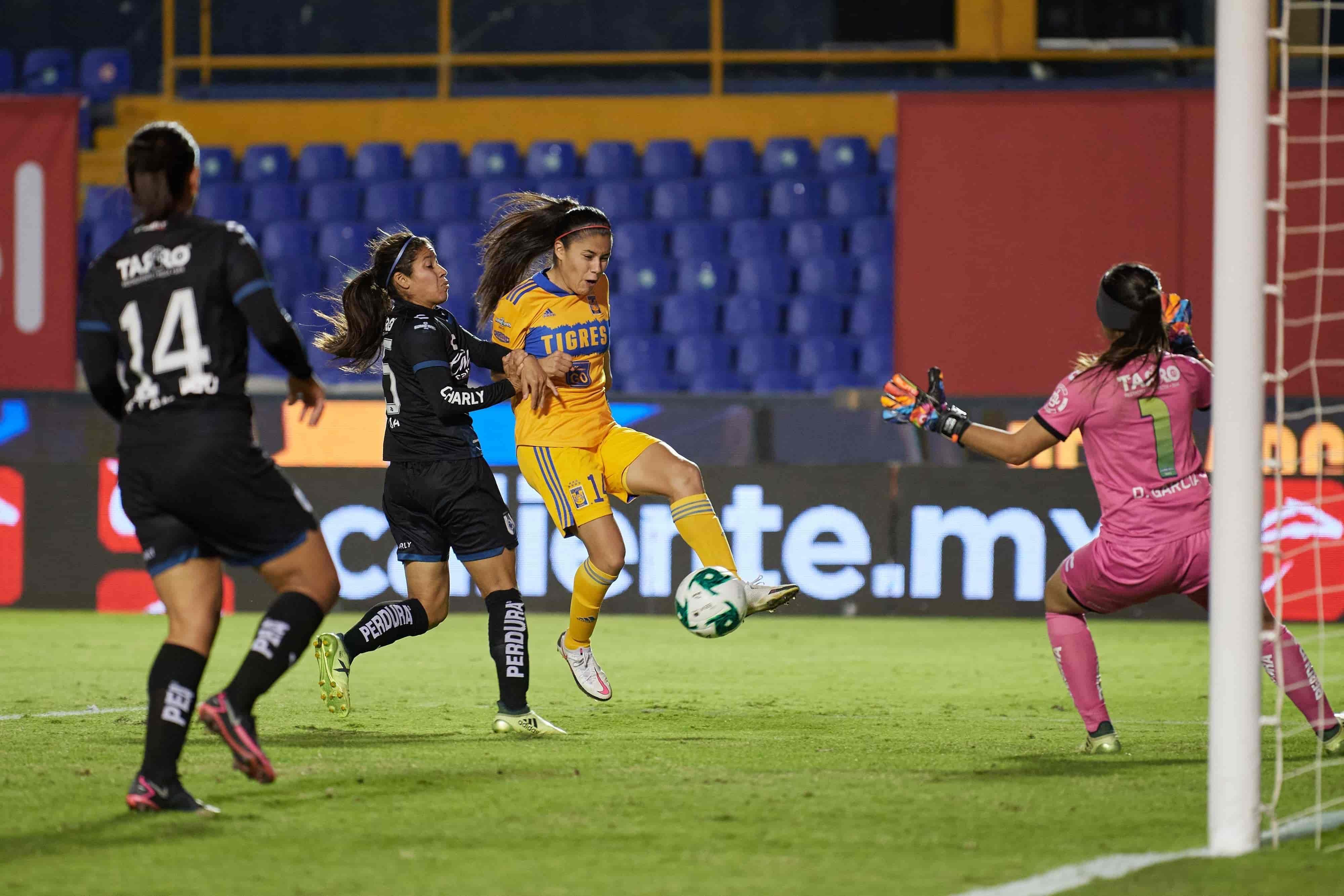 El partido terminó Tigres 2-0 Querétaro