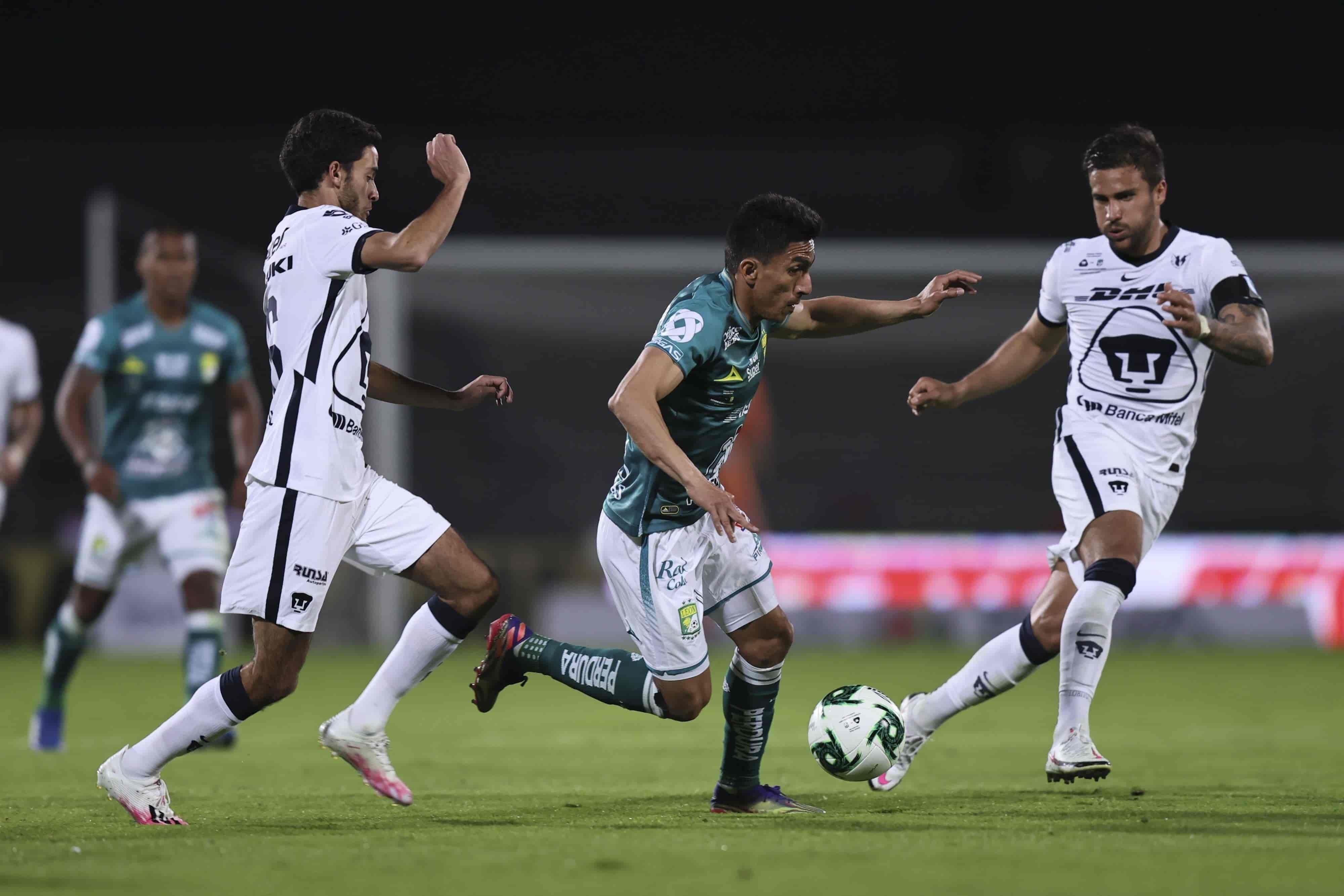 Pumas 1-1 León marcador final