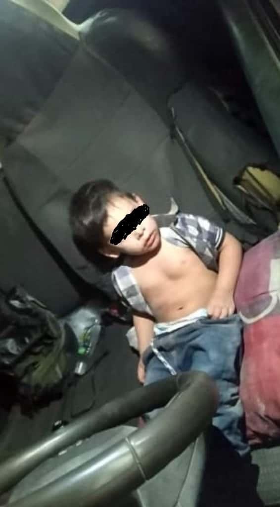 El menor de dos años, fue abandonado a su suerte, por un tío