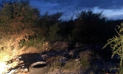 El incendio de un terreno llevó al hallazgo de cuerpo calcinado de un hombre