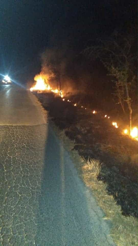 Se reportó un incendio en una ranchería en General Terán