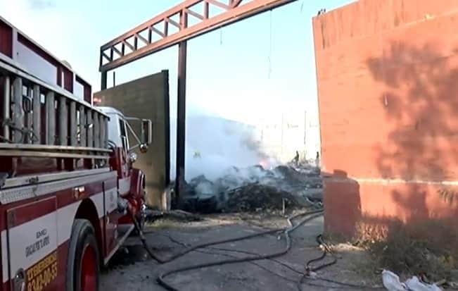 Se registró un incendio de una bodega abandonada