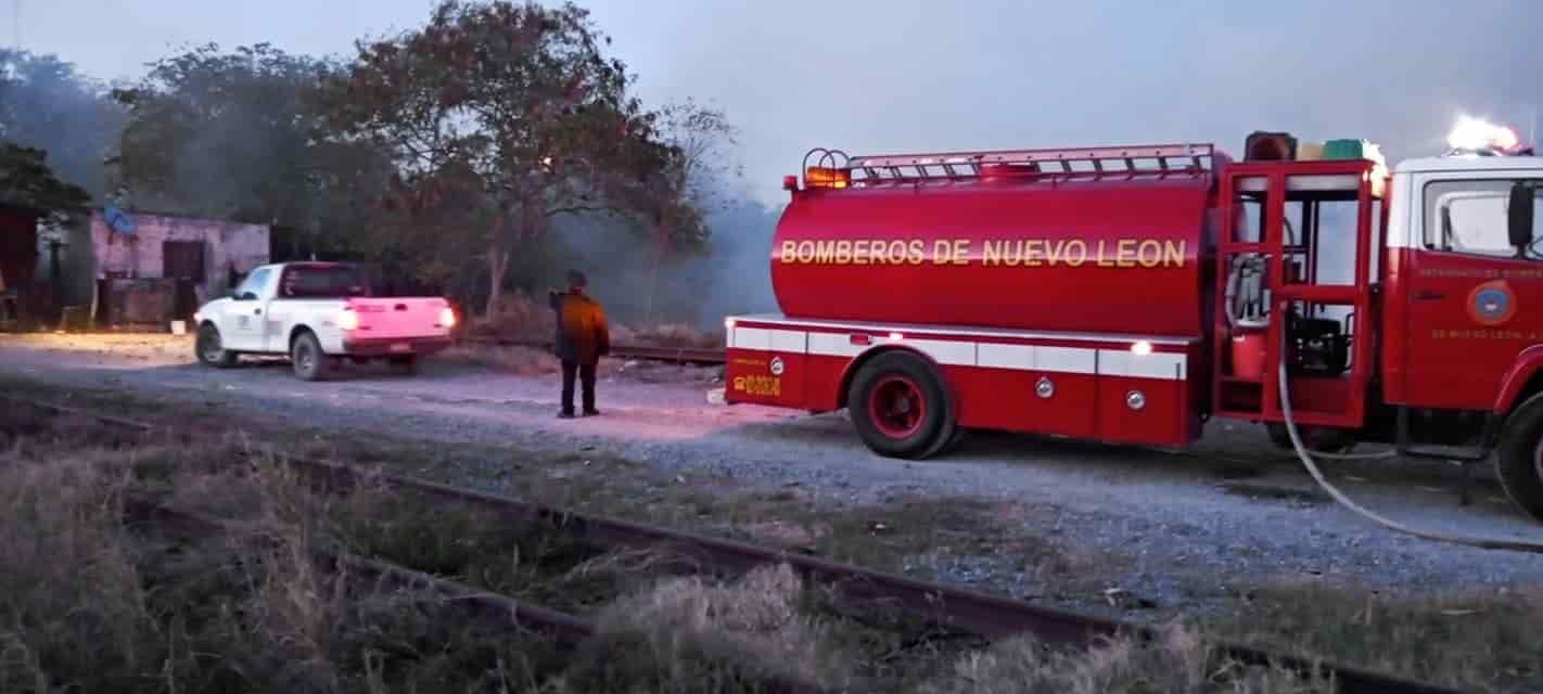 El incendio se registró en un lote baldío ubicado en el llamado Circuito Sendero