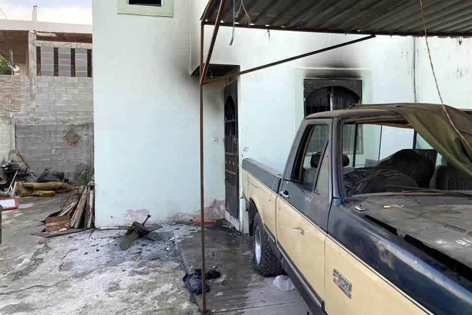 Reportaron un incendio en una casa de la colonia Jardines del Mezquital