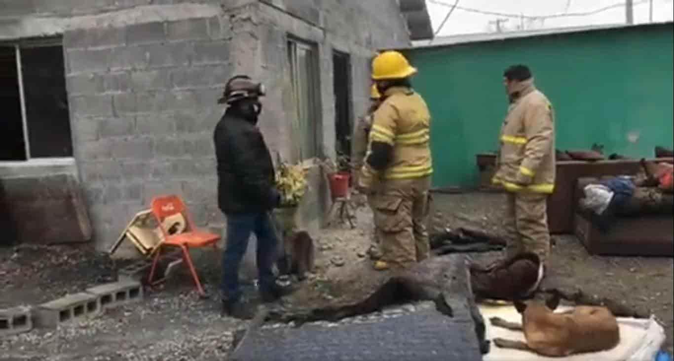 Se reportó un incendio de una casa del llamado Rancho California