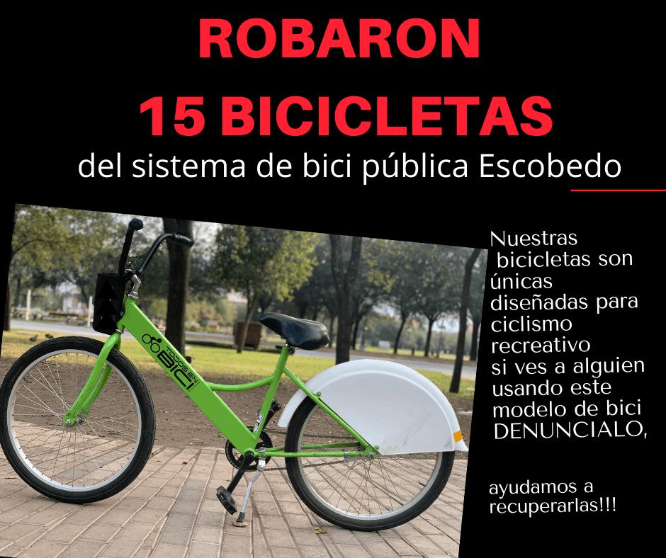 15 bicicletas de uso público, fueron robadas de una estación