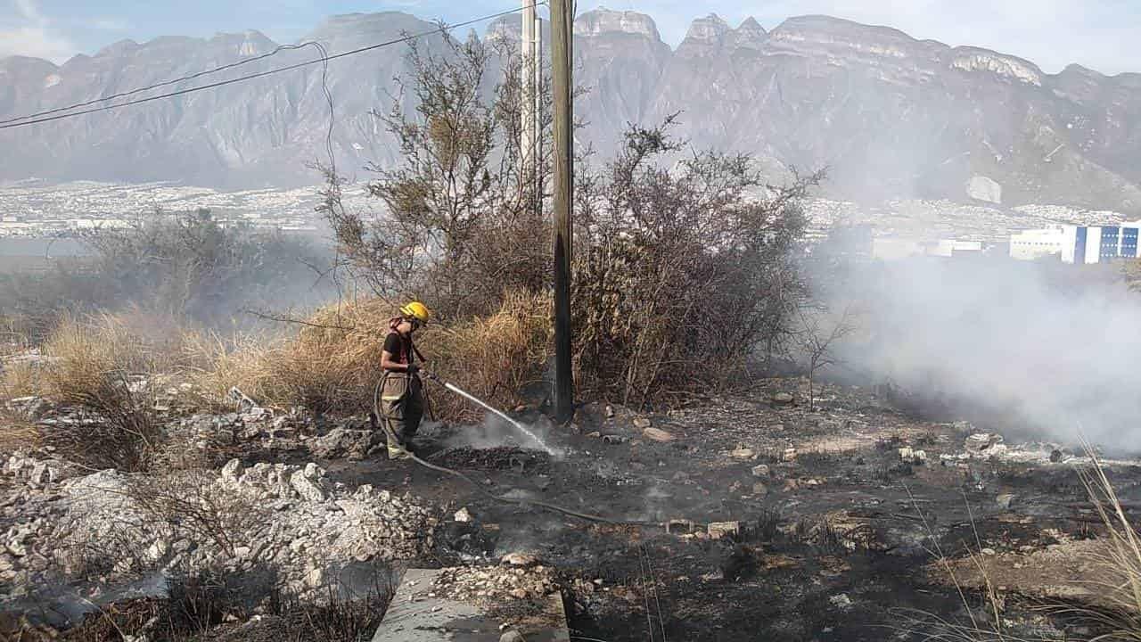 La ola de calor inusual para esta época, provocó una serie de incendios en predios baldíos