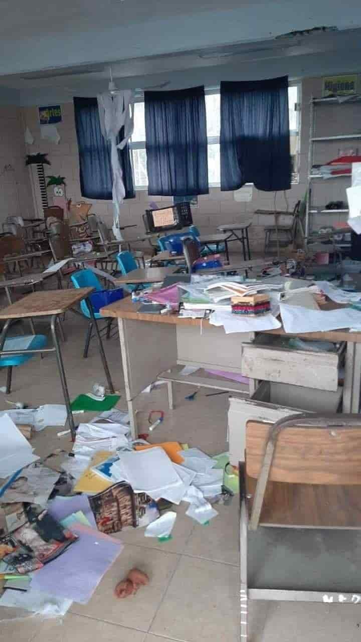 Delincuentes ingresaron a una escuela de Montemorelos para saquearla