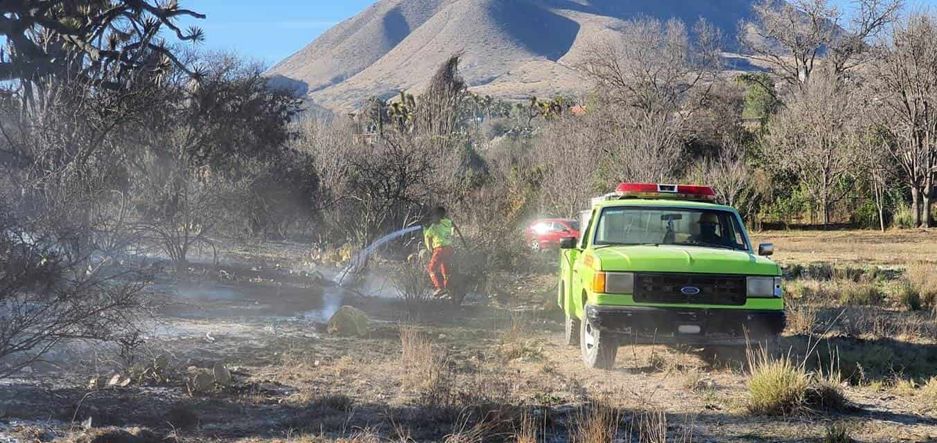 Unas siete hectáreas fueron consumidas por el fuego