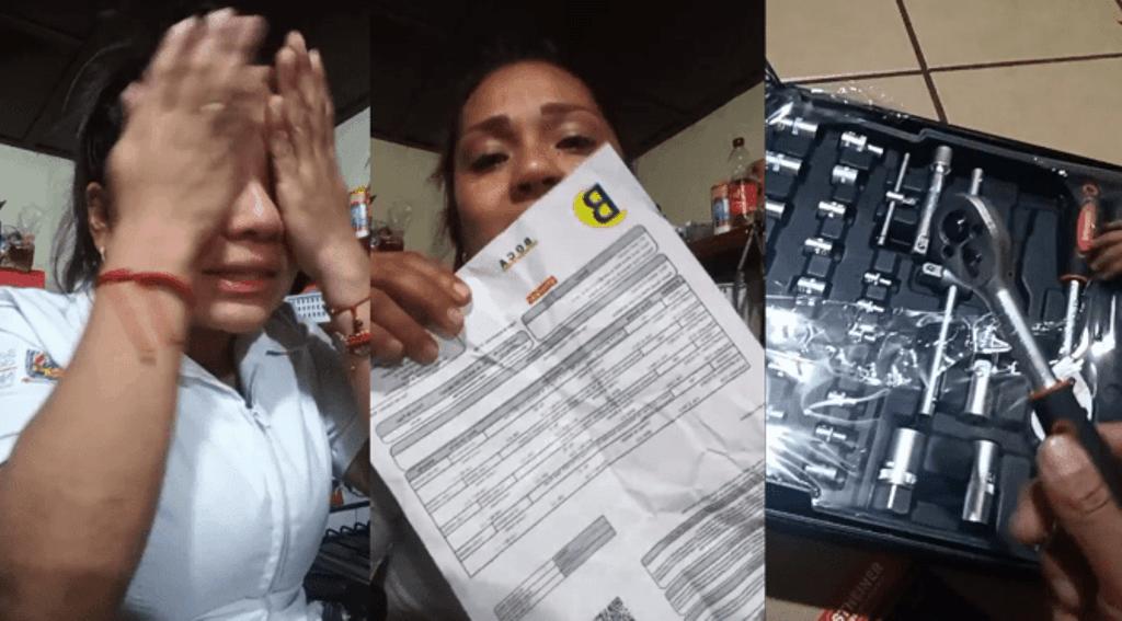 La mujer publicó su historia de estafa a través de una transmisión de Facebook
