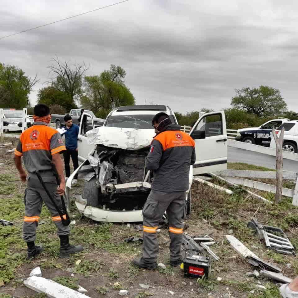 El conductor terminó estampado contra una cerca