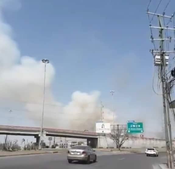 Ahora le tocó al municipio de Escobedo, enfrentar un macro incendio
