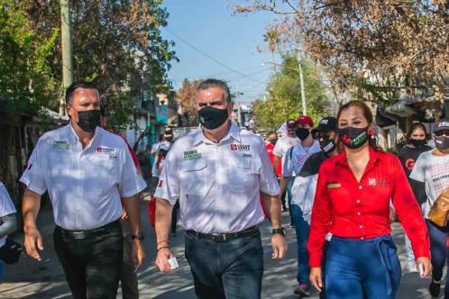Afinarían obras pluviales en Apodaca candidatos del PRI