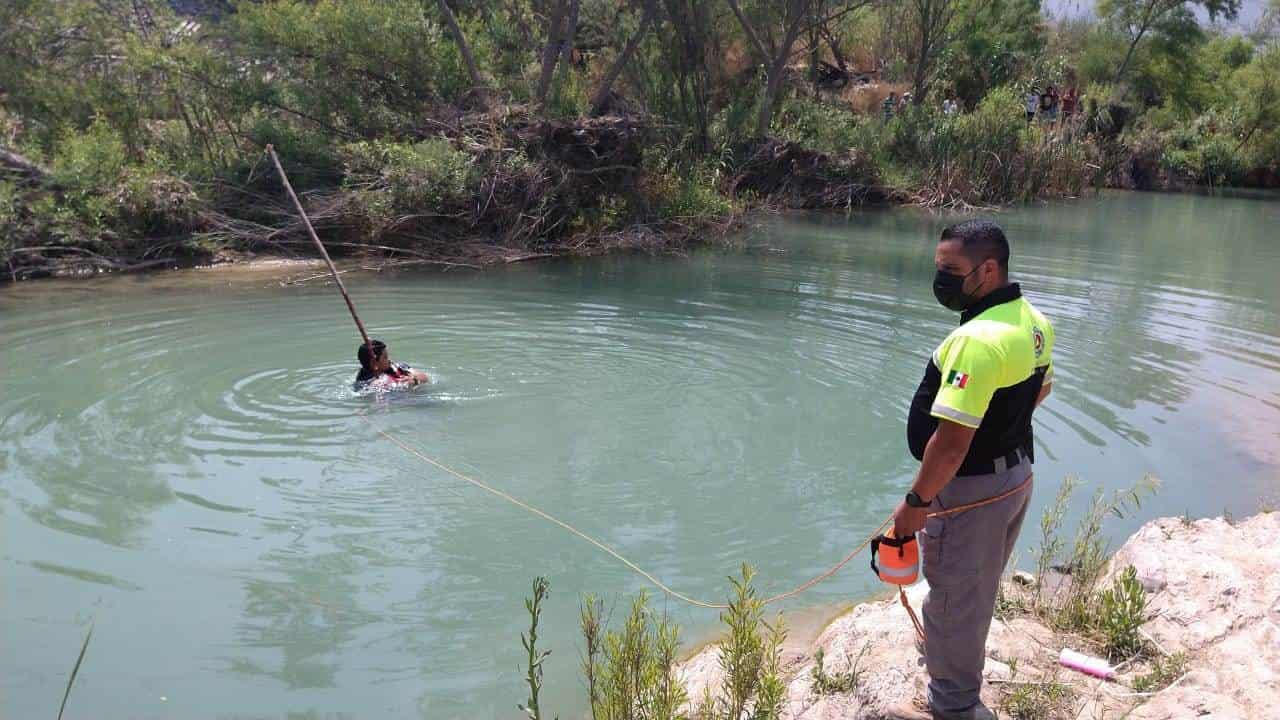 La represa donde despareció la persona se encuentra cerca del cruce de las calles Francisco Naranjo y Porfirio Díaz