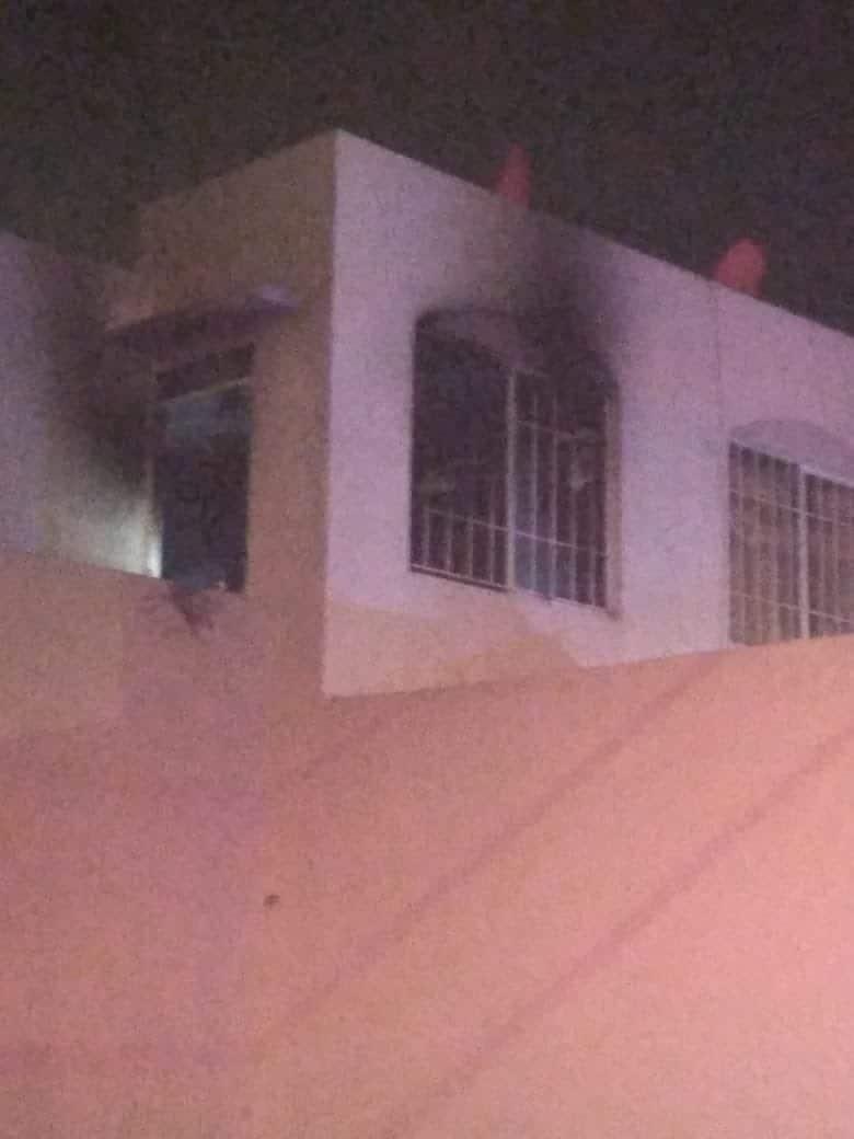 El incendio de un domicilio se registró en la Colonia Ferrocarrilera