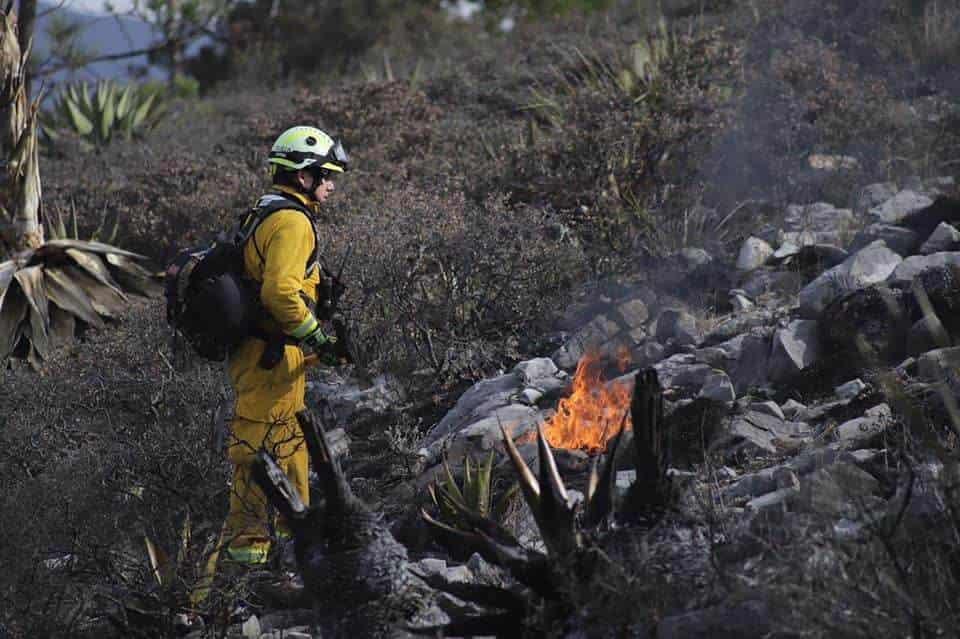 Lograron controlar el incendio forestal que se reportó en la sierra del municipio de Santiago.