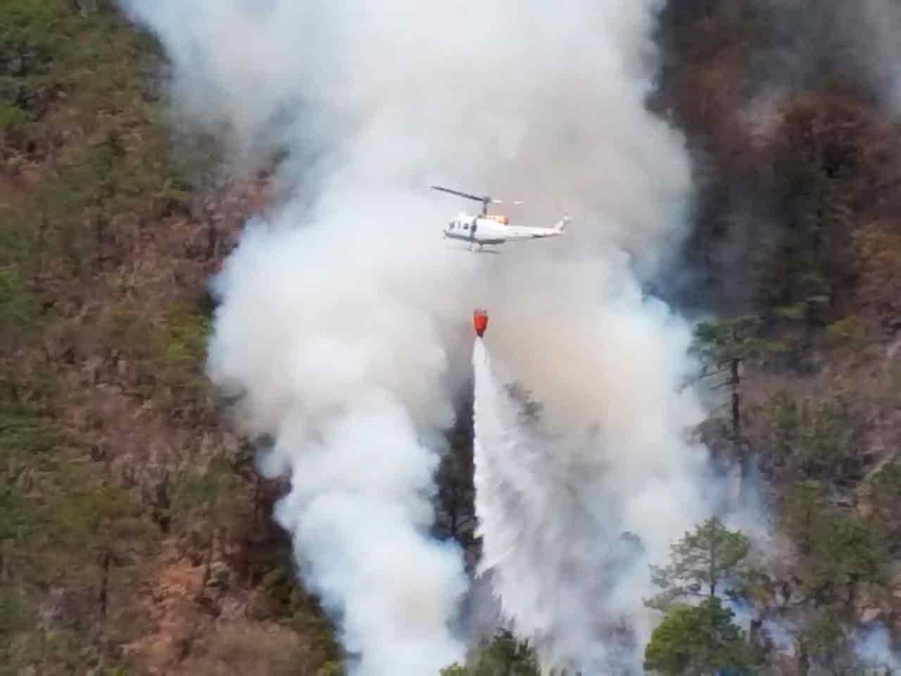 El operador de un helicóptero se salvó de morir