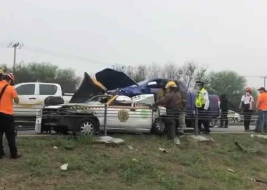 La pasajera de un taxi falleció luego de que la unidad de alquiler fue impactada por una camioneta