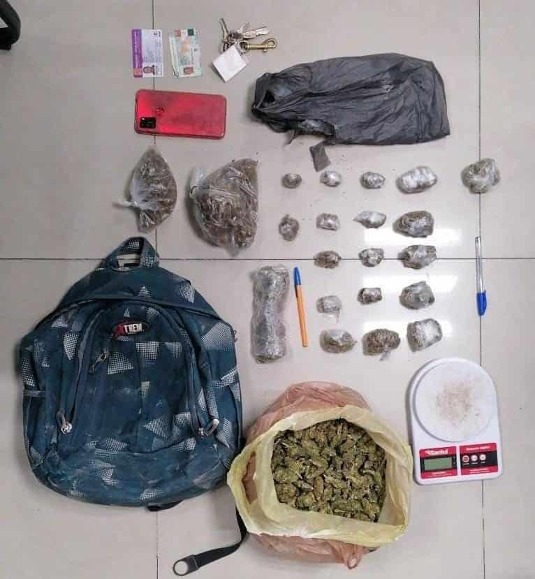 Al narcomenudista detenido en Pesquería, le encontraron droga y una báscula gramera