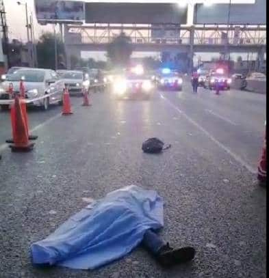 El peatón falleció atropellado ayer por un automovilista en la Avenida Fidel Velázquez