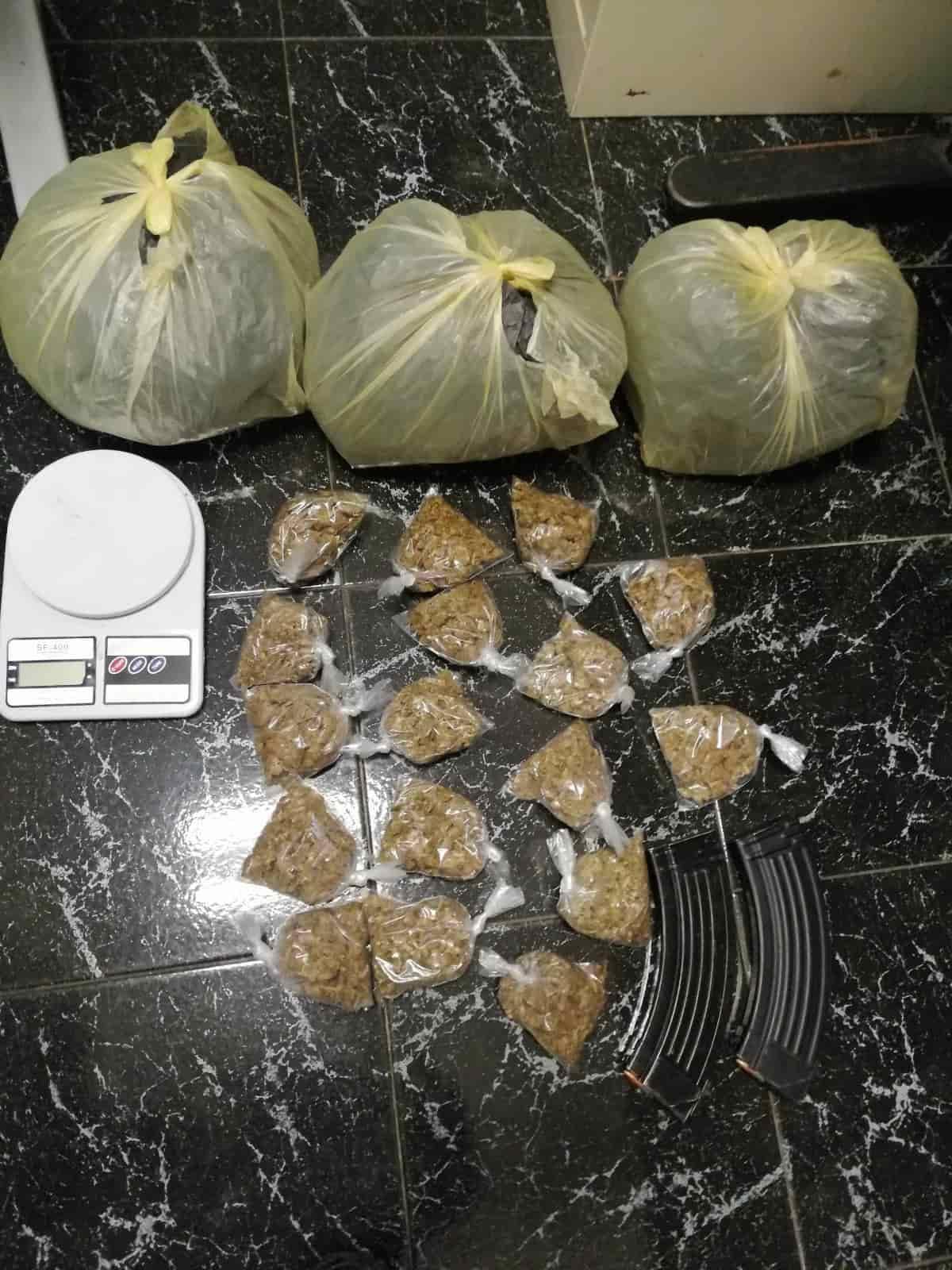 Con más de tres kilos de marihuana fue detenido un narcomenudista