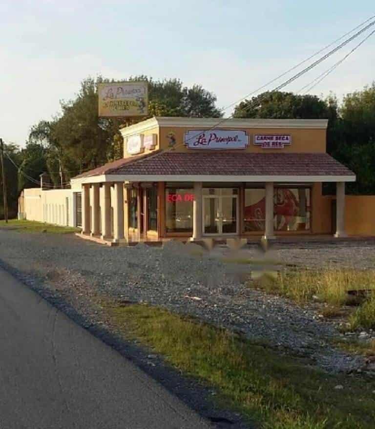 Dos hombres robaron la caja fuerte de un establecimiento especializado en dulces regionales y carne seca,