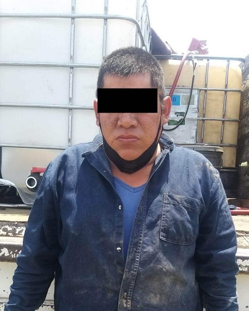 """El """"huachicolero"""" transportaba 500 litros de hidrocarburo"""