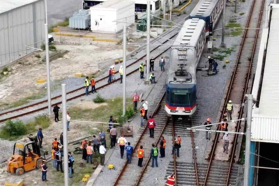 Se reportó el descarrilamiento de uno de los vagones de la Línea 1 del Metro
