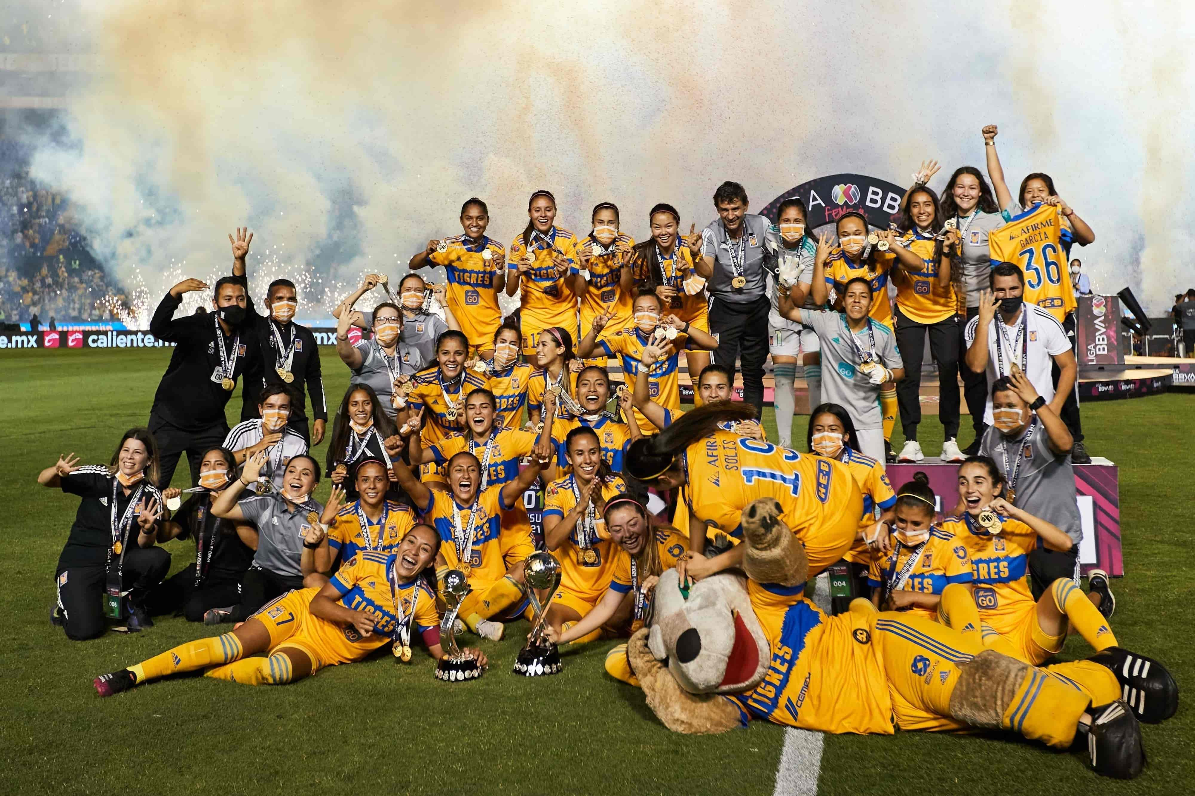 Bicampeonas de Liga MX Femenil