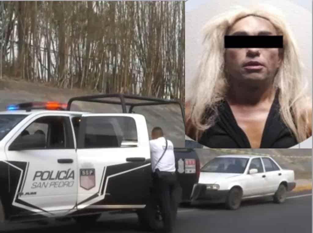 Sorprendido abordo de un automóvil sedan con reporte de robo.