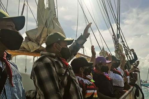 Zarpa Escuadrón 421 del EZLN hacia España
