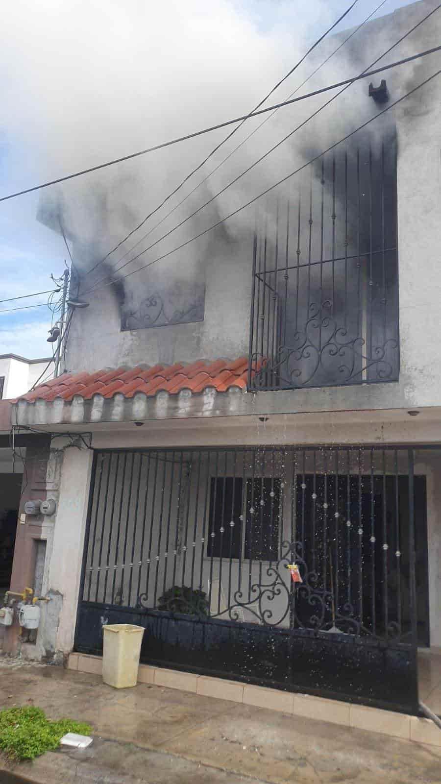 Reportaron el incendio de una vivienda de Apodaca