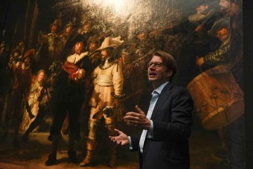 """Agranda IA """"La ronda nocturna"""" de Rembrandt"""