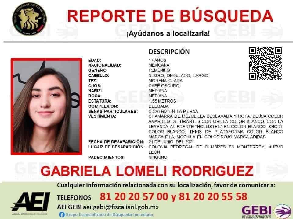 Inició un operativo para dar con el paradero de una estudiante que se encuentra desparecida