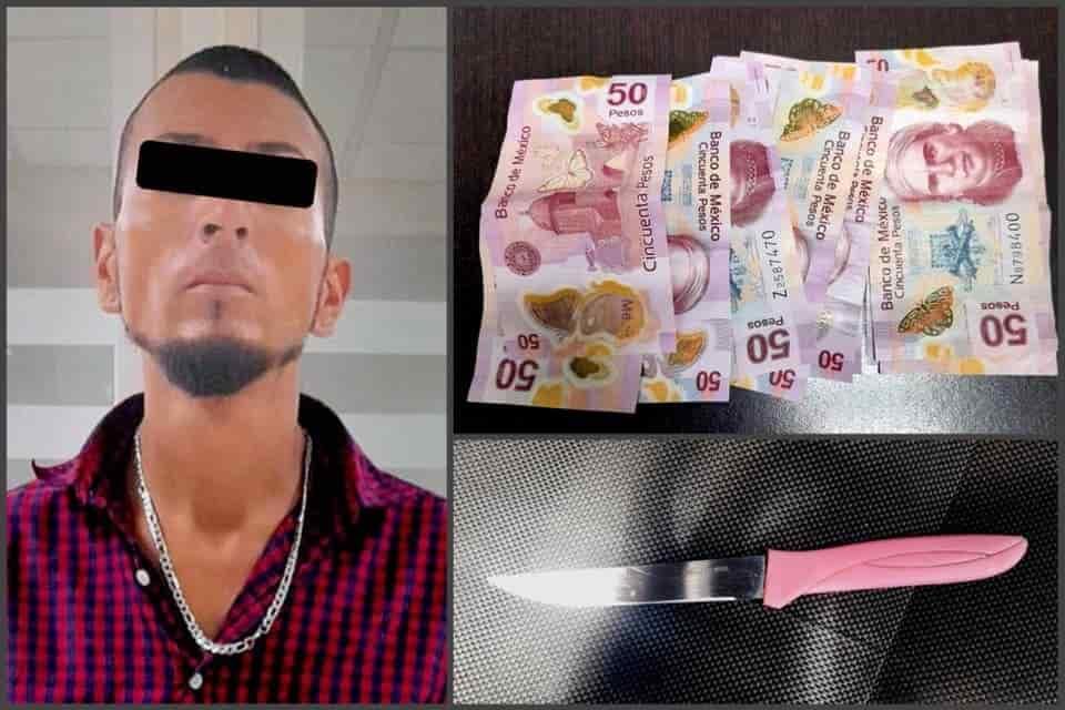 Dos delincuentes asaltaron con lujo de violencia, una tienda Oxxo ubicada en el municipio de Apodaca