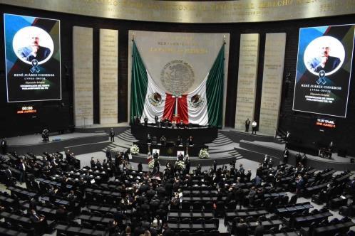 Homenaje luctuoso al diputado René Juárez Cisneros