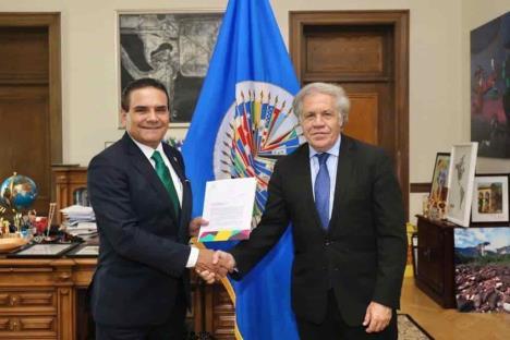Aureoles eleva reclamo y alerta ante OEA
