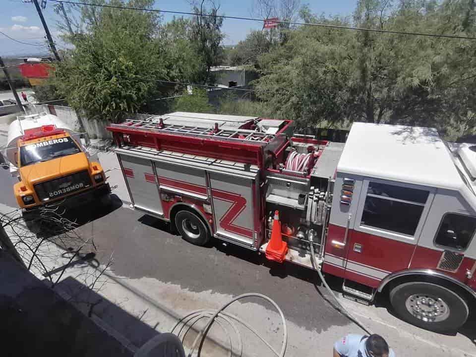 Reportaron un incendio de un domicilio en la colonia Tepeyac