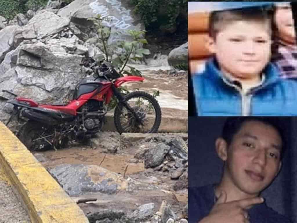 Los dos jovencitos que murieron arrastrados por la corriente en un paraje de Laguna de Sánchez, ya fueron identificados por sus familiares