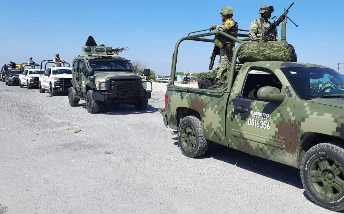 La Secretaria de la Defensa Nacional, envió un pelotón de mil 600 soldados para blindar Monterrey