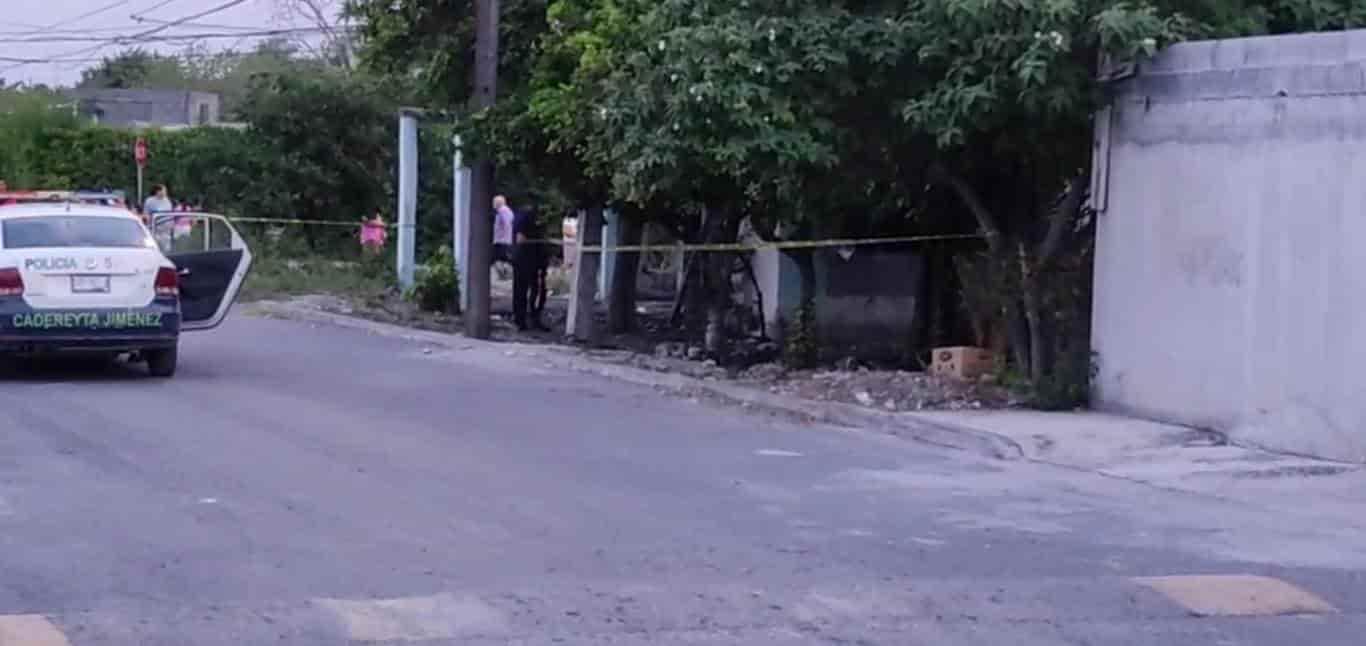 Hombres armados atacaron la fachada de una vivienda ubicada en el municipio de Cadereyta