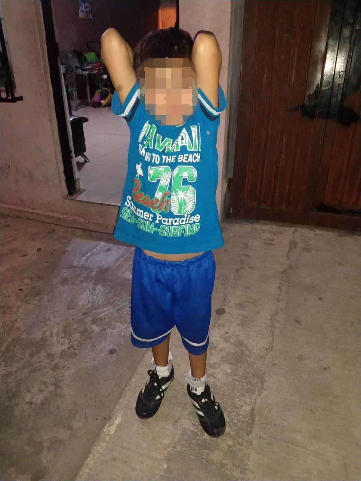 Localizan a menor de 7 años de edad con huellas de violencia y quien se encontraba solo en la vía pública