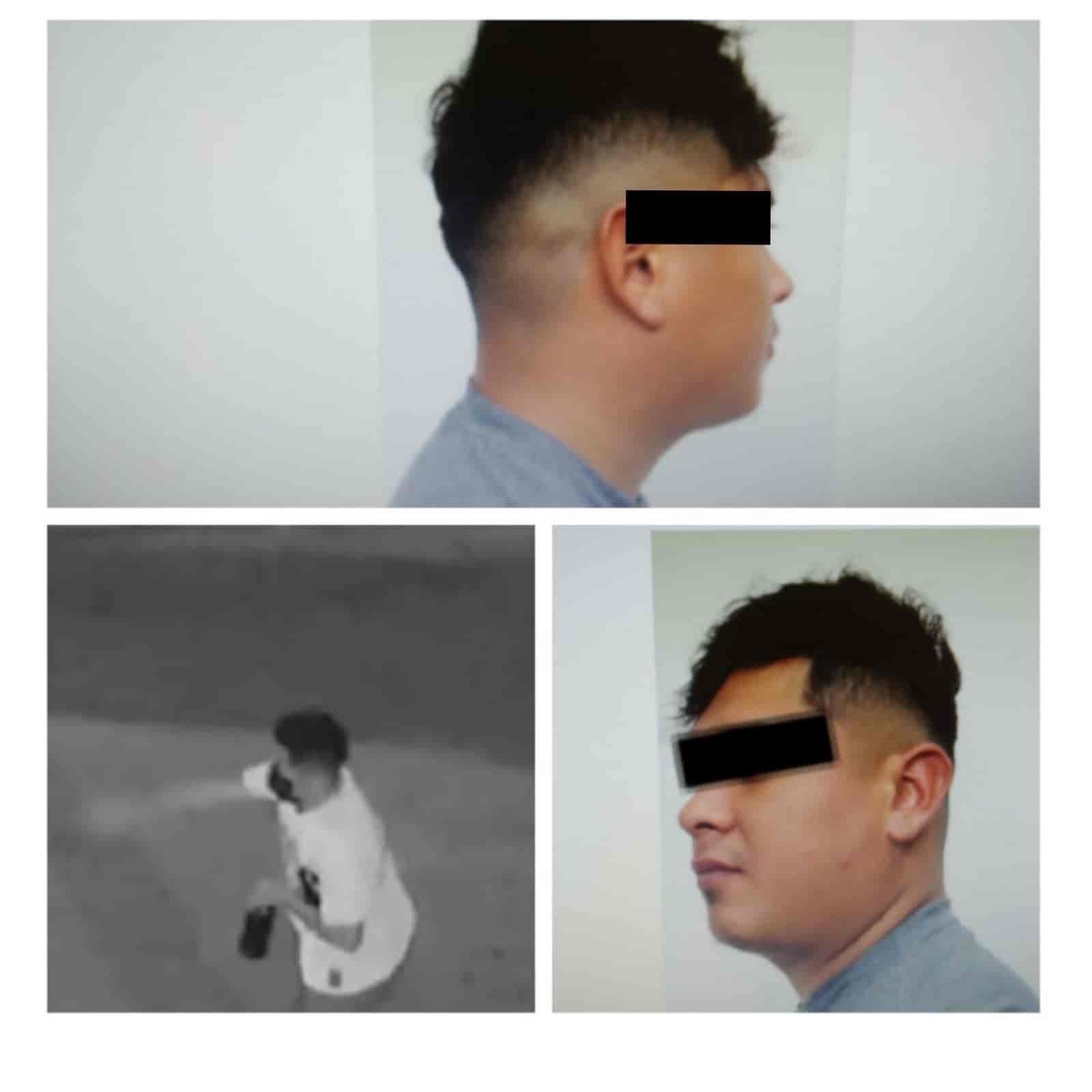 El presunto fue captado por las cámaras de seguridad del área y más tarde lo detuvieron