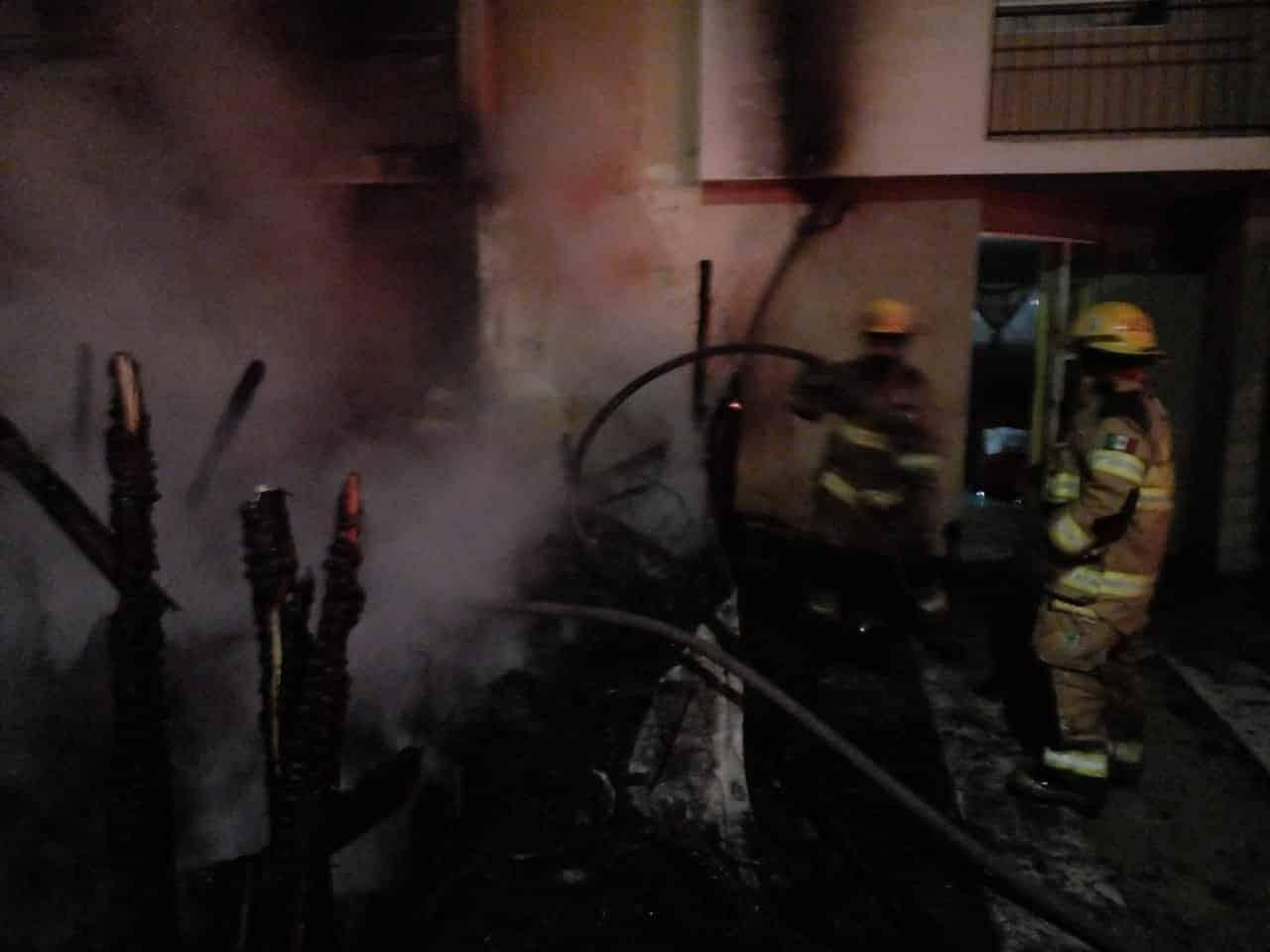 La casa de un carpintero terminó totalmente destruida, al producirse un incendio