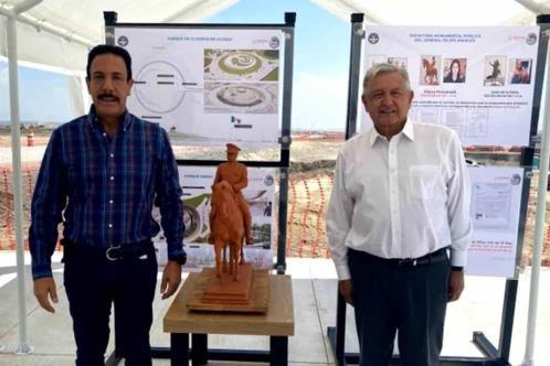 Valdrá 22 mdp escultura de Felipe Ángeles en el AIFA