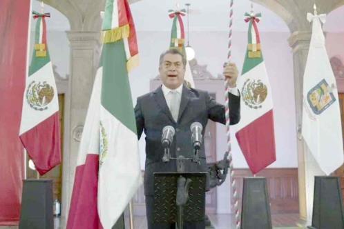 Da Jaime Rodríguez su último Grito de Independencia
