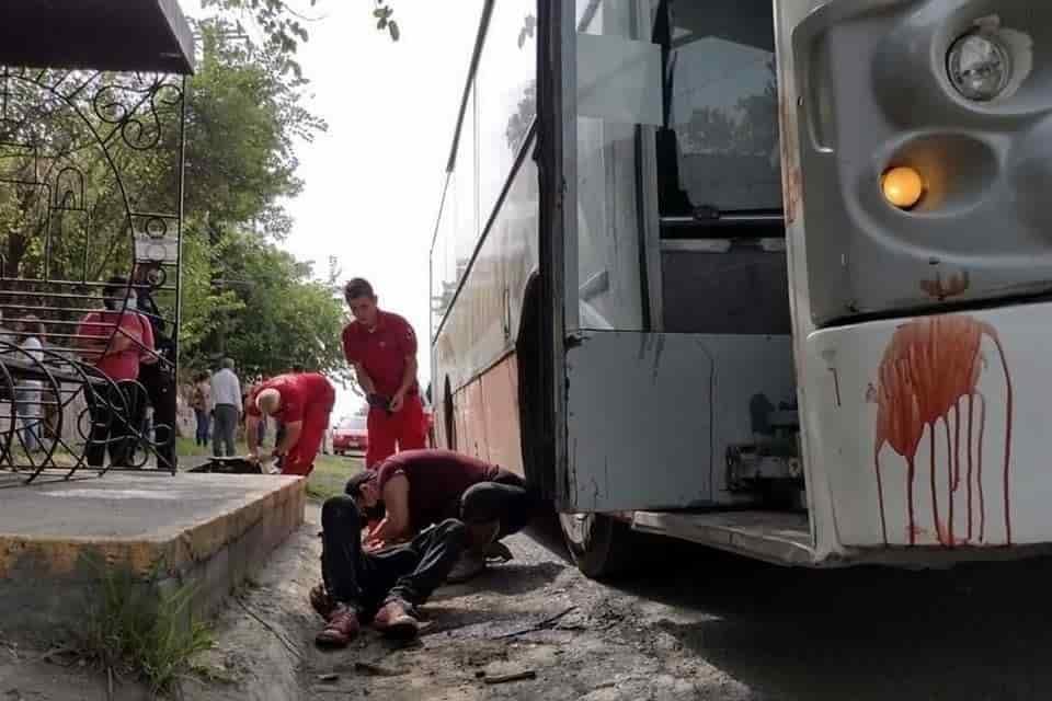 El pasajero de la ruta Línea Amarillos que fue lesionado por el chofer de la unidad colectiva, se encuentra en estado crítico